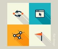 För dig design Programvaru- och rengöringsdukutveckling, marknadsföring royaltyfri illustrationer