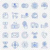För dig design 25 vektorsymboler packar royaltyfri fotografi