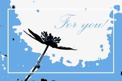` För dig `-hälsningkort Arkivbild