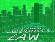 För Digital för Cybersäkerhetslag illustration lagstiftning 3d vektor illustrationer