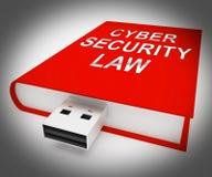 För Digital för Cybersäkerhetslag tolkning lagstiftning 3d royaltyfri illustrationer