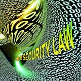 För Digital för Cybersäkerhetslag tolkning lagstiftning 3d stock illustrationer