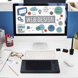 För Digital för rengöringsdukdesignteknologi begrepp illustrationer royaltyfria foton