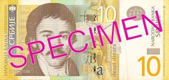 för dinaranmärkning för 10 serb avers royaltyfria foton