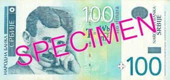 för dinaranmärkning för 100 serb avers royaltyfria bilder