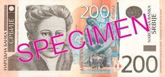 för dinaranmärkning för 200 serb avers arkivbilder