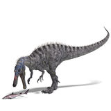 för dinosaurframförande för clipping 3d suchominus Arkivfoto