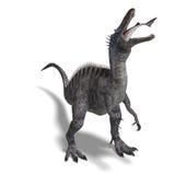 för dinosaurframförande för clipping 3d suchominus Royaltyfri Fotografi