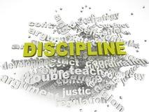 för disciplinfrågor för imagen 3d bakgrund för moln för ord för begrepp Fotografering för Bildbyråer