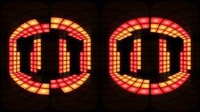 För diskonattklubb för 360 VR färgrik ögla för vj för bakgrund för raster för ljus för vägg för dansgolv stock video