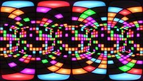 För diskonattklubb för 360 VR färgrik ögla för vj för bakgrund för raster för ljus för vägg för dansgolv arkivfilmer