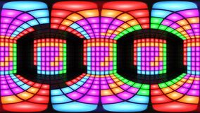 För diskonattklubb för 360 VR färgrik ögla för vj för bakgrund för raster för ljus för vägg för dansgolv lager videofilmer