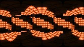 För diskonattklubb för 360 VR orange ögla för vj för bakgrund för raster för ljus för vägg för dansgolv arkivfilmer