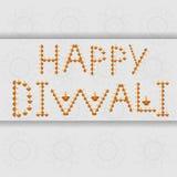För Diwali för härlig garnering lycklig beröm för text diya vektor illustrationer