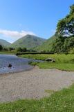 För Dodd för Kirkstone passerande mellersta vatten Cumbria bröder Arkivbild