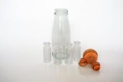 för dof-fokus för flaskor grunt centralt exponeringsglas Fotografering för Bildbyråer
