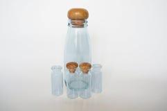 för dof-fokus för flaskor grunt centralt exponeringsglas Royaltyfria Bilder
