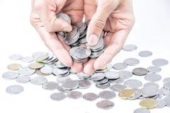 för dollarflöde för bills 3d framförda isolerade pengar illustration Arkivbild