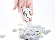 för dollarflöde för bills 3d framförda isolerade pengar illustration Arkivfoton