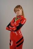 för dräktflicka för anime 4 red arkivfoto