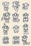 för drawelement för björn gullig hand Arkivbilder