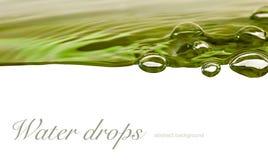 för droppbild för bakgrund 3d vatten Arkivbild