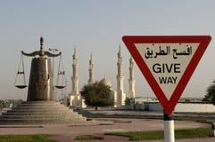 för dubai för abualdhabien ras för moské khaimah zayed Arkivbilder