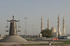 för dubai för abualdhabien sheikhen för ras för moskén khaimah zayed Fotografering för Bildbyråer