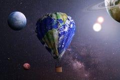 för dublin för bilstadsbegrepp litet lopp översikt Aerostat som täckas i textur av planeten på ett utrymme stock illustrationer