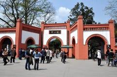 för dujiangyan historisk park ingångsport för porslin arkivfoton
