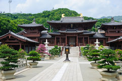 för dynastilin för chi kinesiskt tempel för tang för stil nunnekloster royaltyfria foton