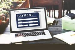För E-kommers för betalning elektroniskt E-betalning kreditering begrepp Arkivfoton