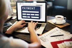 För E-kommers för betalning elektroniskt E-betalning kreditering begrepp Fotografering för Bildbyråer