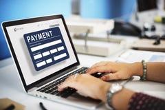 För E-kommers för betalning elektroniskt E-betalning kreditering begrepp Royaltyfria Foton