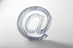 för e-postmodell för bakgrund 3d white för tecken Royaltyfri Foto