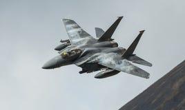 För Eagle för slag F15 flygplan jaktflygplan Arkivfoto