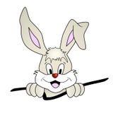 för easter för kanintecknad film gulligt le kanin Stock Illustrationer