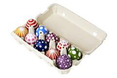 för easter för låda färgrik packe ägg Arkivbilder