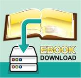 För Ebook för nedladdning guld- illustration för symbol vektor royaltyfri illustrationer