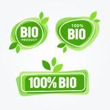 För Eco för vektorillustrationgräsplan uppsättning för etiketter mat Vård- överskriftsamling Organiskt naturprodukt Logo Element vektor illustrationer