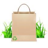 för ecomodell för påse 3d white för shopping Arkivfoton