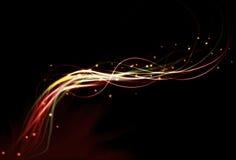 för effektbrand för abstrakt bakgrund oskarp lampa Royaltyfria Bilder