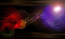 för effektfiber för bakgrund svart neon för glöd Royaltyfri Illustrationer