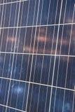 för ekologisk sol- station panelström för detalj Arkivbild