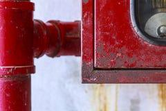 för eldsläckarebrand för bakgrund 3d isolerad white bild Arkivfoton