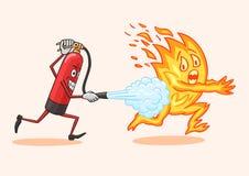 för eldsläckarebrand för bakgrund 3d isolerad white bild vektor illustrationer