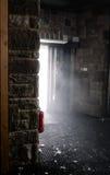 för eldsläckarebrand för bakgrund 3d isolerad white bild Royaltyfri Foto