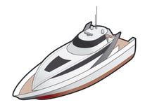 för elementsymbol för design 41j yacht för motor royaltyfri illustrationer