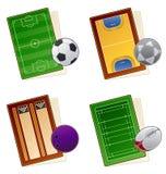 för elementsymbol för design 49a set sportfields Stock Illustrationer