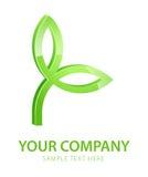 för elementsymbol för design ekologisk växt Royaltyfria Bilder